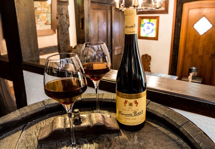 Vins d'Alsace Sang du Dragon Verres