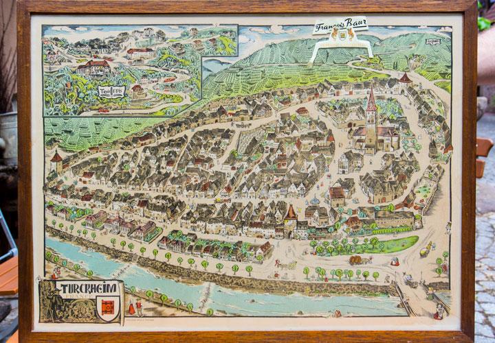 Vin Alsace Baur - Vieux plan de Turckheim